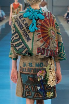 Wow! They call this Haute Couture... I call it a sack of potatoes! Seriously? Maison Martin Margiela Details HC F/W '15