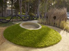 sandpit - part of a natural playscape at COW HOLLOW SCHOOL in San Francisco. work by Surfacedesign, Inc.