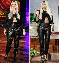 """Ellen DeGeneres' Nicki Minaj Halloween Costume: """"Half Naked,"""" Cleavage - Us Weekly"""