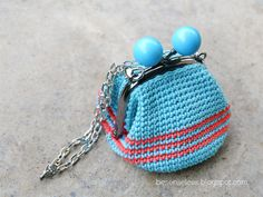 Where is the Wonderland? - airali handmade -: Coin purse with Natura just cotton
