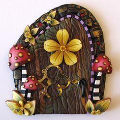Mushroom Fairy Door. $20.00, via Etsy.