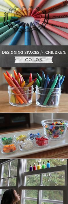 Inspiring tips on using color when designing learning spaces for the children in our lives...