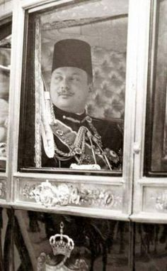 King Farouk I of Egypt on His Way to Open Parliament.
