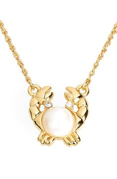 kate spade new york 'shore thing' crab pendant necklace available at #Nordstrom