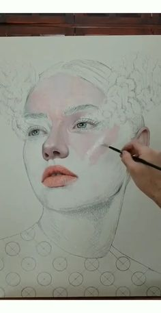 Skin Painting Process by Part 1 - Art and Drawings - Art Sketches Painting Videos, Painting Process, Painting & Drawing, Human Painting, Drawing Process, Gouache Painting, Acrylic Face Painting, Skin Drawing, Realistic Oil Painting