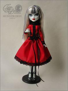 Monster High doll red dress
