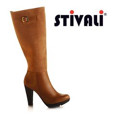 Ven a Stivali y encuentra estas botas de tacón, elaboradas en combinación de cuero y ante con suela de goma. Recuerda que los miércoles hay 20% de descuento, pagando con American Express. #americanexpress #leather #boots http://www.elretirobogota.com/esp/?dt_portfolio=stivali