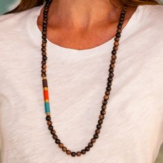 Amitola Wood Necklace II by Samantha Goldstone