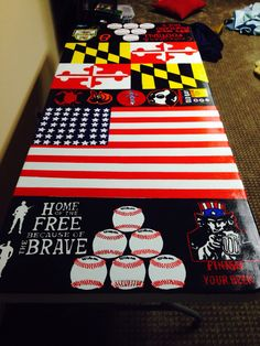 Hand painted beer pong table