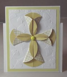 handmade card from Night Owl Designs: Easter Cross ... dahlia fold with two sizes of circles ... great for confirmations and baptisms too ..