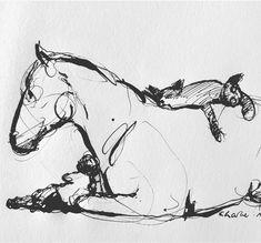 Home Design Drawing Charlie Mackesy ( Art And Illustration, Illustrations, Charlie Mackesy, Equine Art, Horse Love, Horse Art, Gouache, Art Tutorials, Painting & Drawing