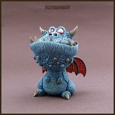 DRAGON number #21 | Dragon Collection | Polymer Clay | BUZHANDMADE: