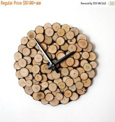Christmas Sale, Wood Wall Clock, Unique Clock, Trending, Reclaimed Wood, Decor and Housewares, Rustic Home Decor, Home and Living