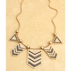 Tribal Black & White Statement Necklace