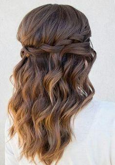 Omber half up half down wavy hair #gorgeoushair