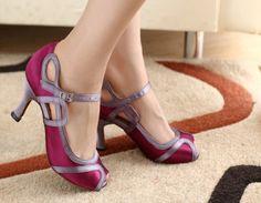 Women Satin Ballroom Latin Salsa Dance Shoes Ceroc Tango Shoe 5 5 5 6 7 8 9 10