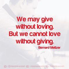 เราอาจจะให้โดยไม่รักได้ แต่เราไม่สามารถรักโดยไม่ให้ได้ Give Yourself a Chance:   https://bnc.lt/ns-fb-pg