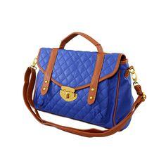 Nila Anthony Quilted Satchel from LittleBlackBag.com  ::Blue:: Handbag:: Satchel:: Quilted