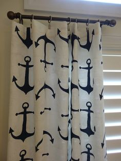 Anchor Curtain panels Nautical Curtain Anchors by BabyEtiquette at https://www.etsy.com/listing/201315430/anchor-curtain-panels-nautical-curtain
