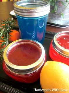 Homemade Gel Home Air Fresheners