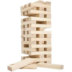 The Nontraditional Giant Wooden Blocks Tower Stacking Game by Hey. takes a classic stacking game to new heights. The 54 wooden blocks are hand-crafted out of pinewood, and can stack over 4 ft. Outdoor Yard Games, Backyard Games, Backyard Parties, Outdoor Games For Adults, Beach Games For Adults, Wooden Building Blocks, Wooden Blocks, Tower Stack, Stack Game
