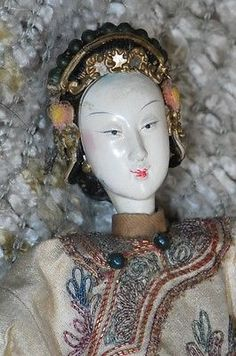 ANTIQUE CHINESE Opera Doll LONG FINGERS Signed! EMBROIDERED COSTUME in Antiques, Asian Antiques, China, Other Chinese Antiques | eBay