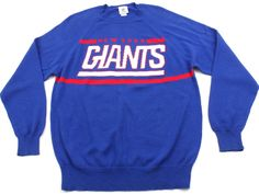 New York Giants NFL Team Apparel Sweater Sweatshirt Mens Large L Vintage Look #NflApparel #NewYorkGiants