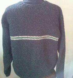 Vintage J Crew Chunky Thick Crew Neck Wool Sweater Mens size M Charcoal #JCrew #Crewneck