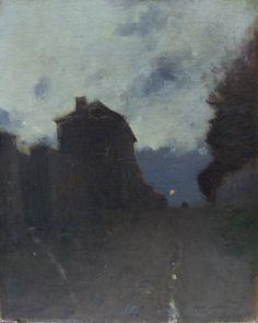 Luigi Loir (French, 1845-1916), La maison du garde. Oil on canvas, 41 x 33 cm.