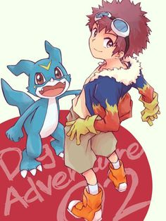 Veemon and Davis Digimon Crests, Digimon Tamers, Digimon Seasons, Gatomon, Digimon Adventure 02, Hunter Games, Digimon Frontier, Fanart, Digimon Digital Monsters