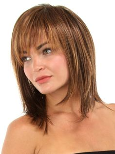 Medium Bob Hairstyles for Women Over 40 with Bangs Eyebrow Makeup Tips