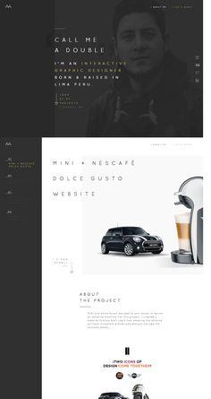 Aaron Márquez Portfolio (More web design inspiration at topdesigninspiration.com) #design #web #webdesign #sitedesign #responsive #ux #ui