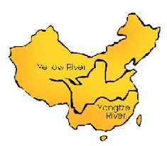 The physical features of China (such as the Yellow River) and how they influenced the civilization that developed there (ACDSEH005)