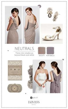 Pretty neutrals that fit perfectly into a rustic chic wedding day.