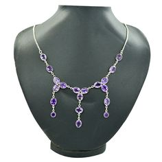 Summer offer:Get 25% discount Coupon-SUM15 Last 2 days   Unique 925 Sterling Silver Necklace Amethyst by DevmuktiJewels