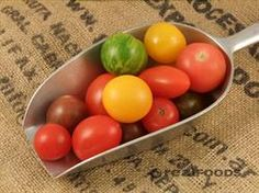 Tomatoes are an excellent source of vitamin C, vitamin A, vitamin K. A very good source of molybdenum, potassium, manganese, dietary fibre, chromium, vitamin B1. A good source of vitamin B6, folate, copper, niacin, vitamin B2, magnesium, iron, pantothenic acid, phosphorus, vitamin E and protein. The carotenoid lycopene is found in tomatoes has been extensively studied for its antioxidant and cancer-preventing properties.