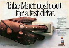 """Mac 1984 """"Test Drive"""" ad."""