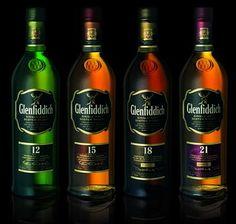 Glenfiddich 12 15 18 21 years Single Malt Scotch Whisky #Scotch #Whisky #Whiskey #Malt #Rye #Bourbon