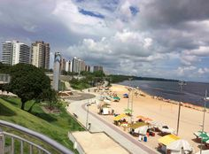 Praia da Ponta Negra - Manaus - Amazonas AM - Brasil - Viagem Volta ao Mundo - Just Go #JustGo