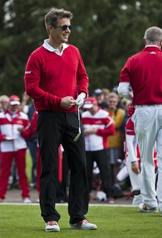 As a patron, Crown Prince Frederik attended the Made In Denmark golf tournament. 2014