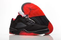 "ee265034945 2017 Air Jordan 5 Low ""Alternate  90"" Black Gym Red-Metallic Hematite"