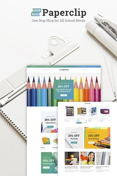 WooCommerce Template , Paperclip - School Shop