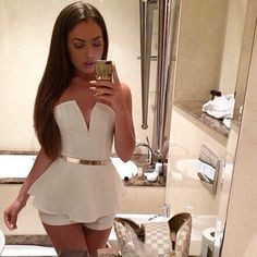 Women Jumpsuit Shorts Sexy strapless Bodysuit White Nightclub Solid Overalls
