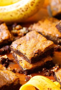 Banana Nutella Bars... These are an absolutely fabulous flavor combination and the perfect texture! @chef_n_training