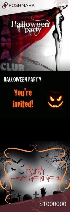 ṖᎾSĤ ṖΛŔŦY ᎾƇŦ ③①  🎉🎃 One more day ! Hello Beautiful Poshers !!! I'm Co-Hosting My first Posh Party !!!! I'm super excited for this opportunity and also it's on HALLOWEEN 🎃!!!   Theme - Jewelry & Accessories  Looking for Amazing closets for potential Host picks ⬇️ Tag Your closet down below ❤️ Posh compliant Only. Not sure if you qualify feel free to check out my listing on being posh complaint for more help 😊 I Look forward on partying with you guys 💋💋💋🌹 Other