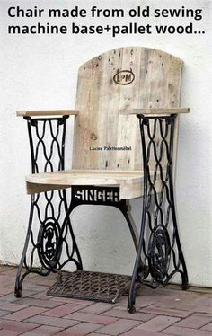 Sewing machine chair