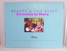 6 Disney Fine Art Lithographs Beauty and the Beast Mint