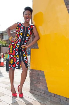 ghanaian dress designs | Geometric African print zip dress LIMITED by Gitasportal2011