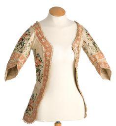 Imatex - cutaway jacket worn over a stomacher, very delightful trim