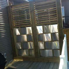 1000 images about fence on pinterest privacy fences for Metal privacy screens for decks